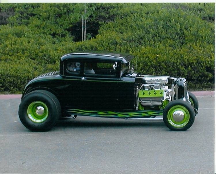 Bob Suzie Chambers 30 Ford A Coupe Over The Hill Gang San