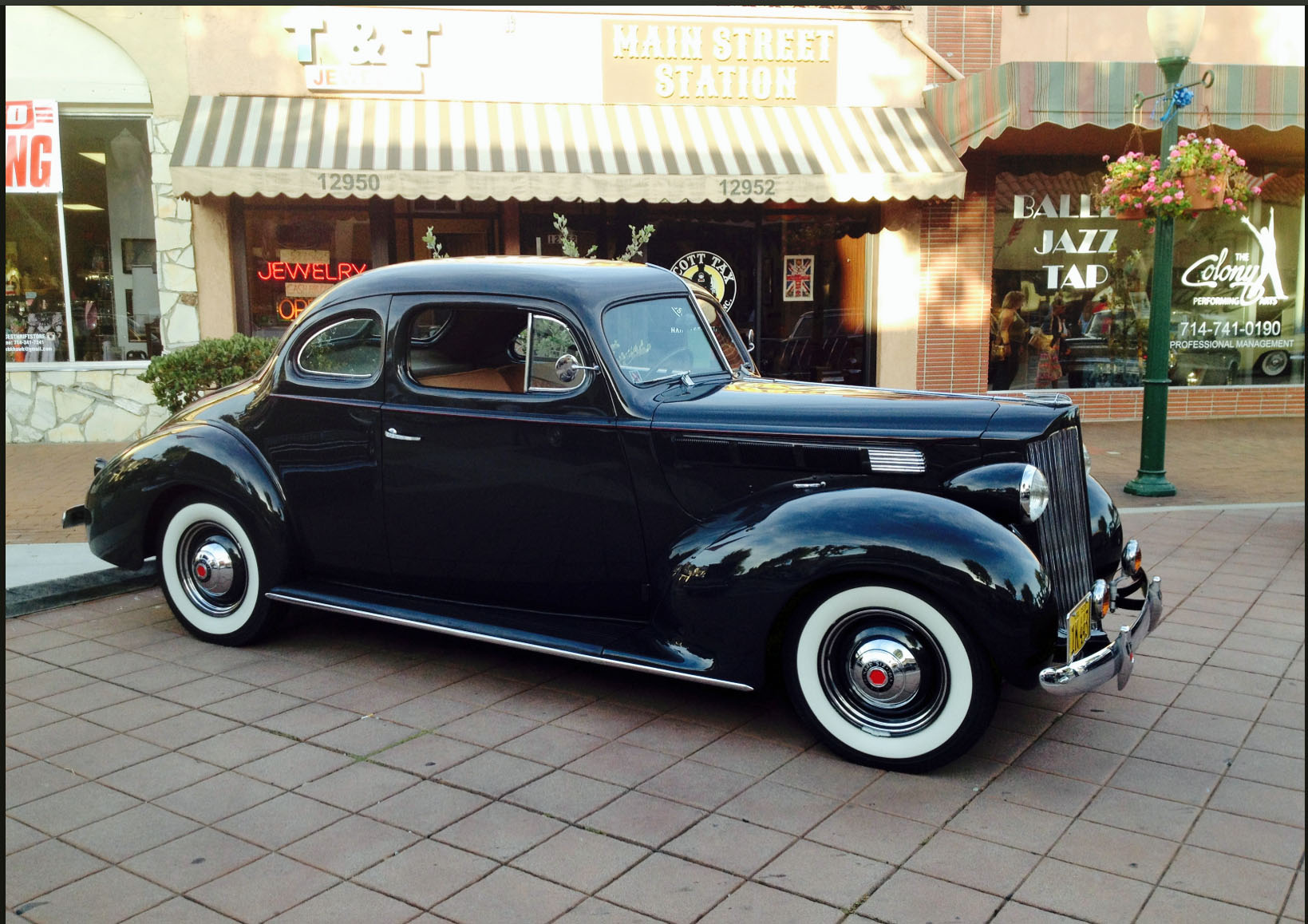 Francie Ringlands 38 Packard Coupe 40 Pontiac Coupe Over The